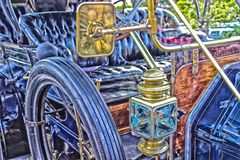 Estilo artsy del coche viejo de la moda imágenes de archivo libres de regalías