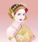 Estilo asiático da menina da mulher ilustração royalty free