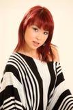 Estilo asiático lindo de la muchacha 80s Fotos de archivo libres de regalías