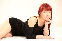 Estilo asiático lindo de la muchacha 80s Fotografía de archivo