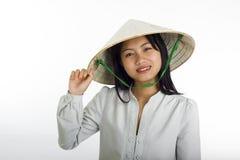 Estilo asiático del vietnamita de la muchacha Fotos de archivo
