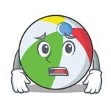 Estilo asustado de la historieta del carácter de la bola Imagen de archivo