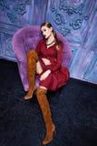 Estilo atractivo de la moda del partido del negocio de colección del traje de vestido de la mujer Fotos de archivo libres de regalías