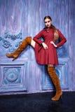 Estilo atractivo de la moda del partido del negocio de colección del traje de vestido de la mujer Imagen de archivo libre de regalías