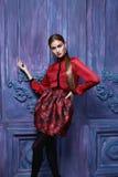 Estilo atractivo hermoso de la moda del negocio de la ropa de la colección de la mujer Imagen de archivo libre de regalías