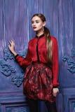 Estilo atractivo hermoso de la moda del negocio de la ropa de la colección de la mujer Imágenes de archivo libres de regalías