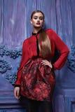 Estilo atractivo hermoso de la moda del negocio de la ropa de la colección de la mujer Fotografía de archivo libre de regalías