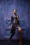 Estilo atractivo hermoso de la moda del negocio de la ropa de la colección de la mujer Fotografía de archivo