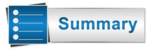Estilo azul sumário do botão Imagem de Stock Royalty Free
