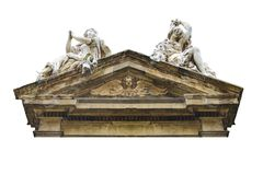 Estilo barroco Gable Church Detail Isolated Photo foto de stock royalty free