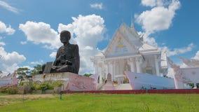 Estilo blanco del barco del pasillo de Vihara en el templo de Wat Hin Thaen Lamphachi y x28; Public& x29 del templo; Imagenes de archivo
