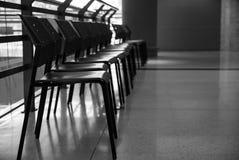 Estilo blanco y negro de la silla Fotografía de archivo