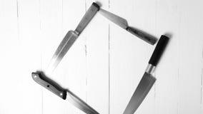 Estilo blanco y negro del color de tono del cuchillo de cocina Fotografía de archivo libre de regalías