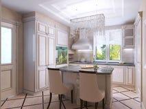 Estilo bonito do art deco da cozinha Imagem de Stock Royalty Free