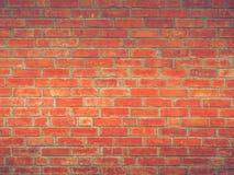 Estilo bonito simples do sótão do vintage da parede de tijolo vermelho do fundo da textura da decoração fotos de stock