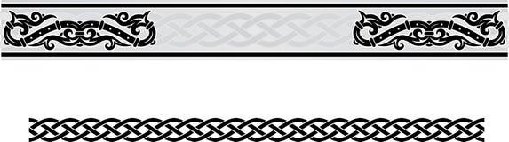 Estilo céltico del marco del ornamento Fotos de archivo