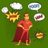 Estilo cómico de la composición del superhéroe ilustración del vector
