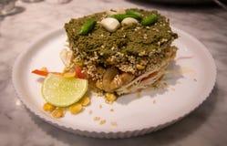 Estilo caseiro do myanmr da salada das folhas de chá fotos de stock royalty free