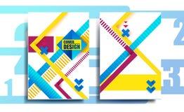 Estilo cheometric del negocio del diseño de la cubierta, Imagen de archivo libre de regalías