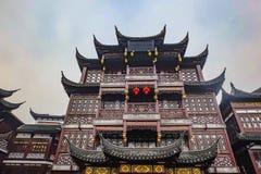 Estilo chinês da construção do vintage no jardim do yuyang imagens de stock