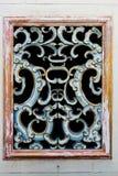 Estilo chinês da janela do templo da tradição velha Fotos de Stock Royalty Free