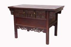 Estilo chinês da tabela de madeira Foto de Stock Royalty Free