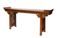 Estilo chinês da tabela de madeira Fotografia de Stock Royalty Free