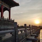 Estilo chinês do templo imagens de stock