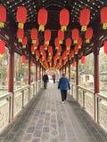 Estilo chinês tradicional do corredor imagem de stock royalty free
