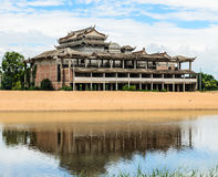 Estilo chino constructivo abandonado Foto de archivo