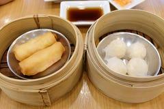 Estilo chino de la comida del dim sum Imágenes de archivo libres de regalías