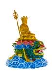 Estilo chino de la estatua de Buda Imagen de archivo libre de regalías