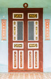Estilo chino de la puerta Imágenes de archivo libres de regalías