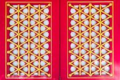 Estilo chino de la ventana roja Fotografía de archivo