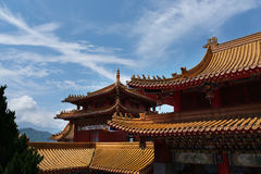 Estilo chino del tejado Foto de archivo libre de regalías