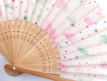 Estilo chino plegable de la fan Fotografía de archivo
