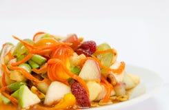 Estilo tailandés de la ensalada de fruta fresca Imagen de archivo libre de regalías