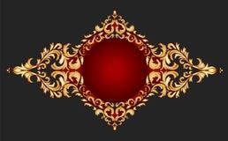 Estilo clásico del marco de oro Imagenes de archivo