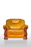 Estilo clássico do marrom do sofá da poltrona Fotografia de Stock Royalty Free