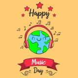 Estilo colorido del día de la música del mundo
