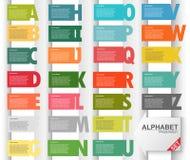 Estilo colorido do papel da apresentação do alfabeto Ilustração Stock