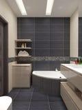Estilo contemporáneo del cuarto de baño principal Foto de archivo libre de regalías