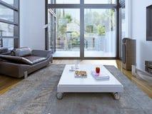 Estilo contemporâneo da sala de estar Fotografia de Stock Royalty Free