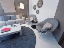 Estilo contemporâneo da sala de estar Fotografia de Stock