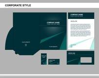 Estilo corporativo, negocio, calificando, publicidad stock de ilustración