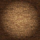 Estilo criado do vintage da textura de mosaico marrom ilustração stock