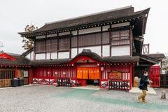 Estilo da arquitetura do período de Edo na vila histórica de JIdaimura da data de Noboribetsu no Hokkaido, Japão fotos de stock royalty free
