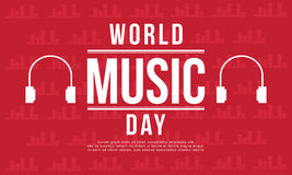 Estilo da bandeira do dia da música do mundo