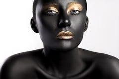 Estilo da beleza da alta-costura Cara Art Imagens de Stock Royalty Free