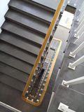 Estilo da escadaria 70s fotografia de stock